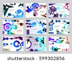 business brochure design ... | Shutterstock .eps vector #599302856