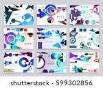 business brochure design ... | Shutterstock .eps vector #599302856