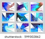 business brochure design ... | Shutterstock .eps vector #599302862