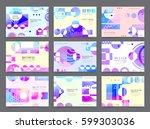 business brochure design ... | Shutterstock .eps vector #599303036
