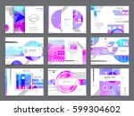 business brochure design ... | Shutterstock .eps vector #599304602