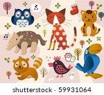 cute animal zoo | Shutterstock .eps vector #59931064