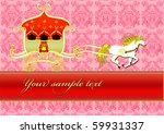 horse with the gold carriage... | Shutterstock . vector #59931337