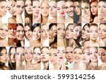 set of beautiful women's studio ... | Shutterstock . vector #599314256