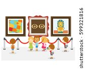 kids at the museum | Shutterstock .eps vector #599321816