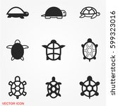 turtle icons | Shutterstock .eps vector #599323016