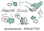 mental health care sketch... | Shutterstock . vector #599327792