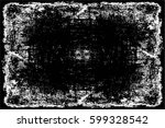 grunge black and white urban... | Shutterstock .eps vector #599328542