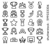 victory icons set. set of 25... | Shutterstock .eps vector #599333306