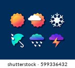 color set of bright weather... | Shutterstock .eps vector #599336432