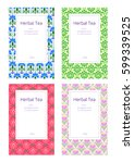 vector illustration floral and... | Shutterstock .eps vector #599339525