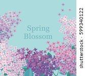 Lilac Spring Blossom Vector...