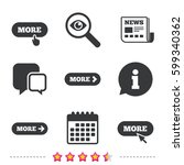 more with cursor pointer icon.... | Shutterstock .eps vector #599340362