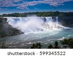 Small photo of Beautiful Niagara falls, American falls view. USA