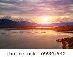 farm salmon fishing in norway | Shutterstock . vector #599345942