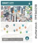 isometric innovative smart city ... | Shutterstock .eps vector #599360258