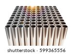 chrome pipes with sun... | Shutterstock . vector #599365556