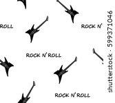 seamless rock music festival... | Shutterstock .eps vector #599371046
