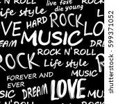 seamless rock music festival... | Shutterstock .eps vector #599371052
