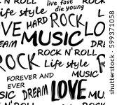 seamless rock music festival... | Shutterstock .eps vector #599371058