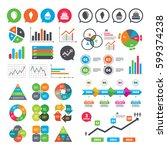 business charts. growth graph.... | Shutterstock .eps vector #599374238
