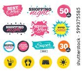 sale shopping banners. special...   Shutterstock .eps vector #599375585