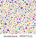 lovely seamless pattern with... | Shutterstock .eps vector #599377112