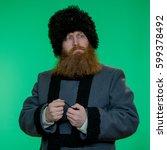 Russian Man With Beard Wearing...