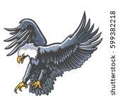eagle emblem isolated on white... | Shutterstock .eps vector #599382218