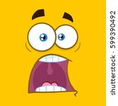 Scared Cartoon Square Emoticon...