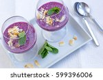 Stock Photos and Images: Dessert Blancmange with almond milk pistachio ...