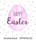 watercolor easter card.... | Shutterstock . vector #599396132