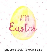 watercolor easter card.... | Shutterstock . vector #599396165