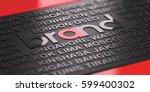 3d illustration of an... | Shutterstock . vector #599400302