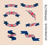 vector set of scrolled isolated ... | Shutterstock .eps vector #599406176