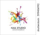nail studio. design template... | Shutterstock .eps vector #599406992