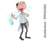 the character drank dirty water.... | Shutterstock .eps vector #599424302