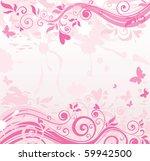 pink floral banner   Shutterstock .eps vector #59942500