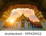 sunrise sence of the marble... | Shutterstock . vector #599425412