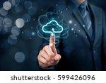 cloud computing concept  ... | Shutterstock . vector #599426096