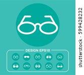 ocular pictograph | Shutterstock .eps vector #599428232