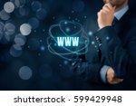 world wide web  www    internet ... | Shutterstock . vector #599429948