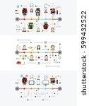 data exchange infographic. time ... | Shutterstock .eps vector #599432522