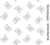 butterfly seamless pattern.... | Shutterstock .eps vector #599434256