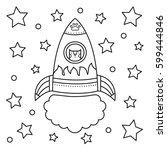vector illustration of a rocket