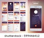 smartphone application design... | Shutterstock .eps vector #599446412