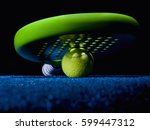 closeup of a paddle racket ... | Shutterstock . vector #599447312