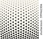 geometric triangle halftone... | Shutterstock .eps vector #599462306