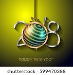 2018 happy new year background... | Shutterstock .eps vector #599470388