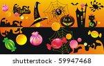 halloween character set with... | Shutterstock .eps vector #59947468